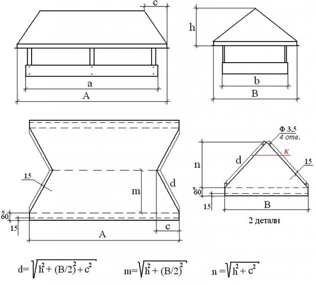 Изготовление колпаков на дымоходы в волгограде монтаж керамического дымохода в деревянном доме